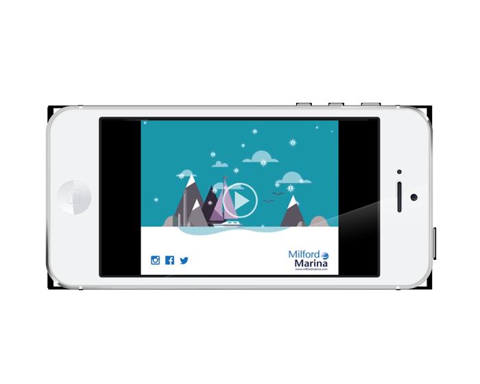 Milford Marina Christmas Animation