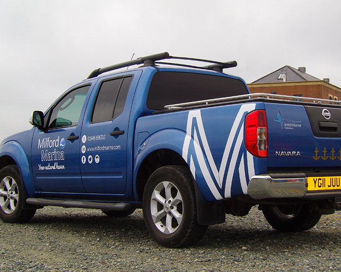 Milford Marina Vehicle Graphics