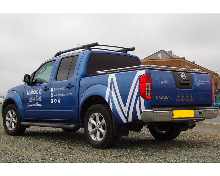 Milford Marina Vehicle Graphics
