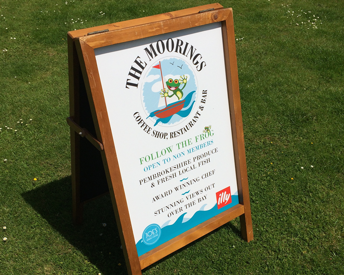 The Moorings Sign