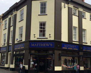 Matthews Menswear Shop Front SIgns